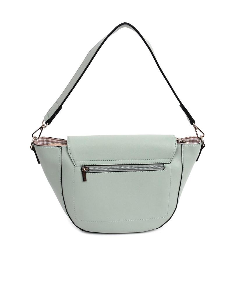 Green cross body bag