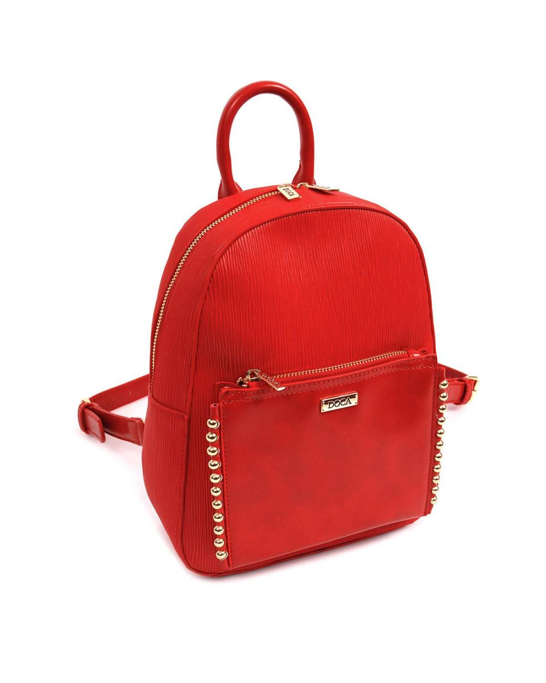 Red backpack