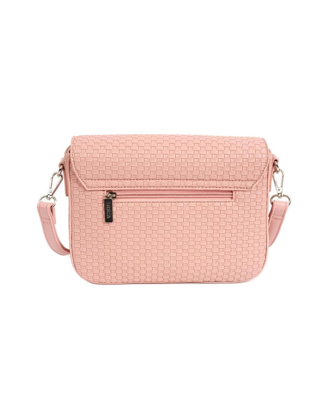 Pink cross body bag