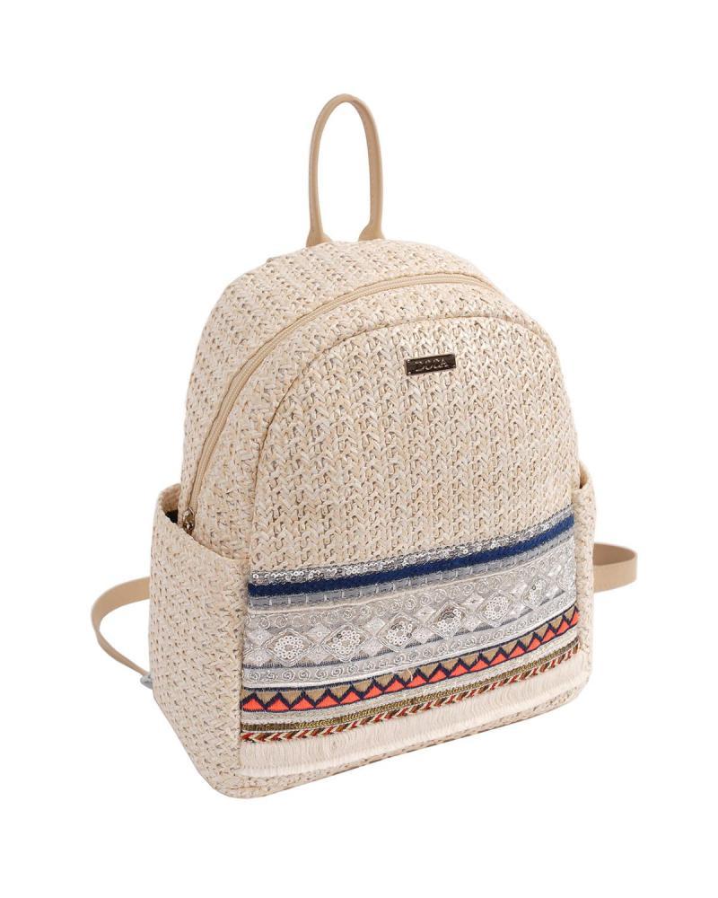 Τσάντα πλάτης εκρού