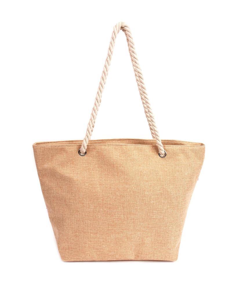 Τσάντα θαλάσσης χρυσή