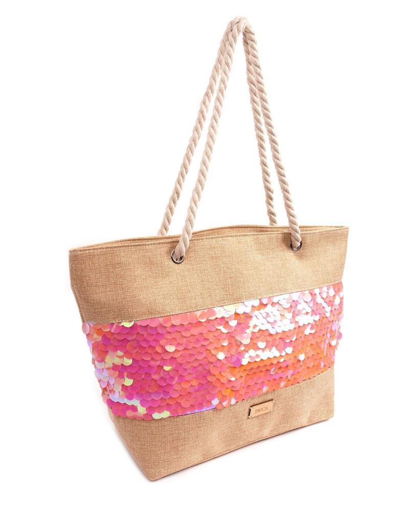 Pink beach bag