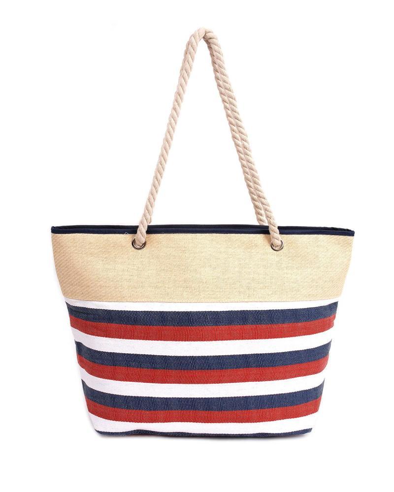 Multi color beach bag