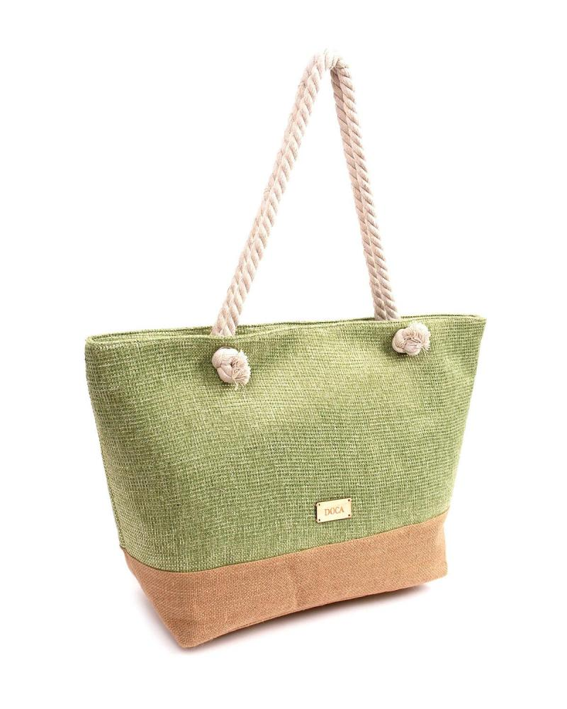 Green beach bag