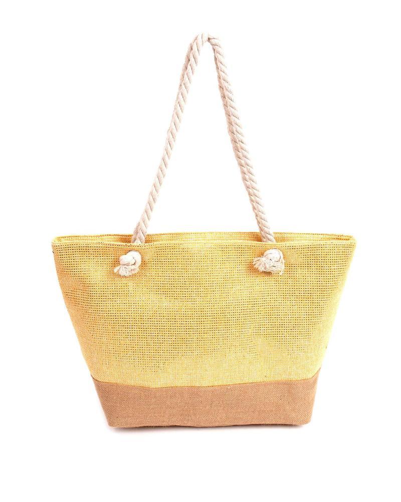 Τσάντα θαλάσσης κίτρινη