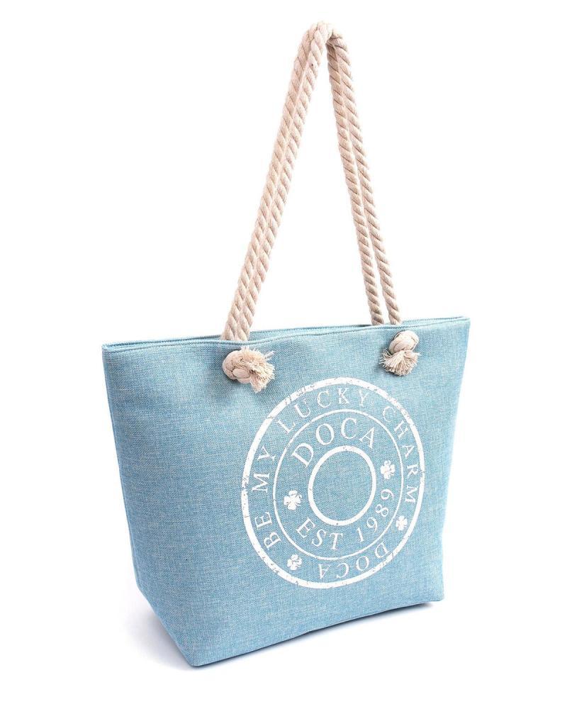 Light blue beach bag
