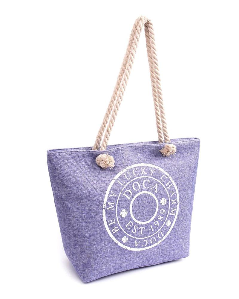 Purple beach bag