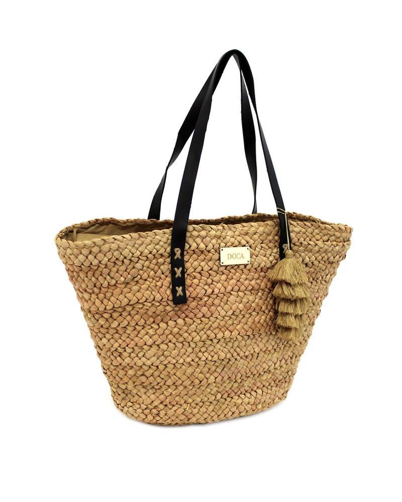 Beige beach bag