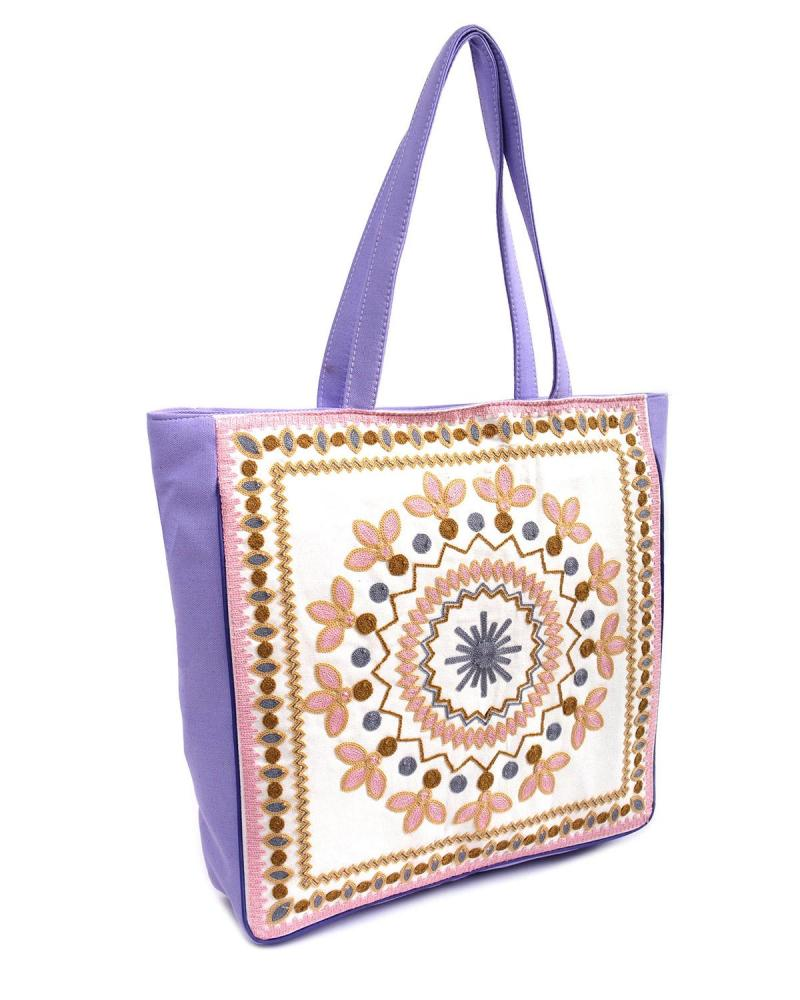 Purple beach bag