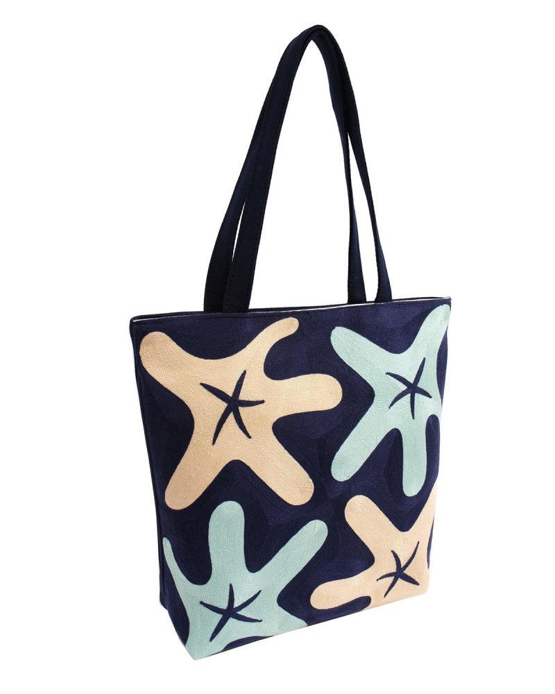 Τσάντα θαλάσσης μπλε
