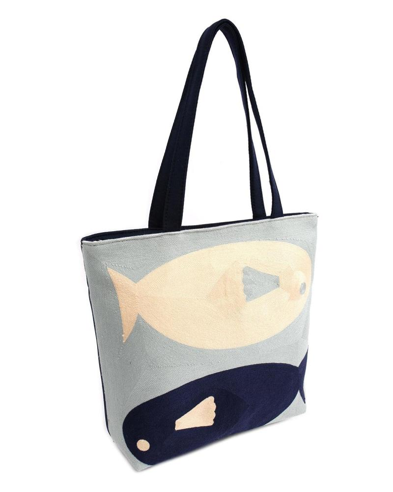 Blue beach bag