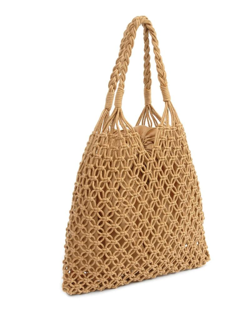Camel beach bag