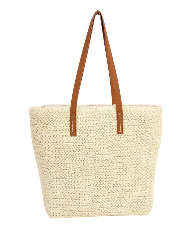 Ecru beach bag