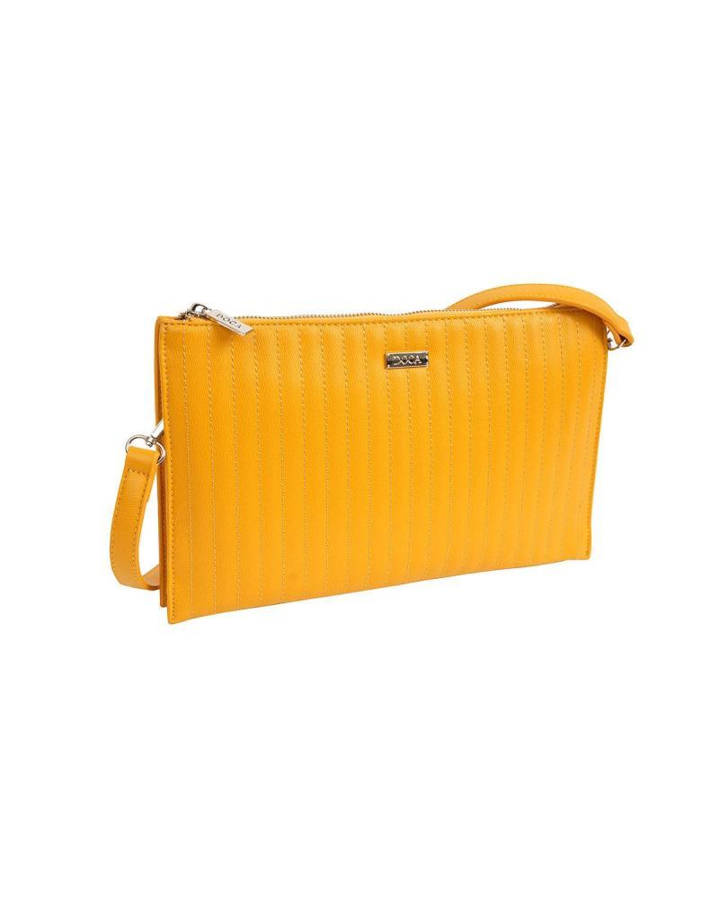 Τσάντα φάκελος κίτρινη