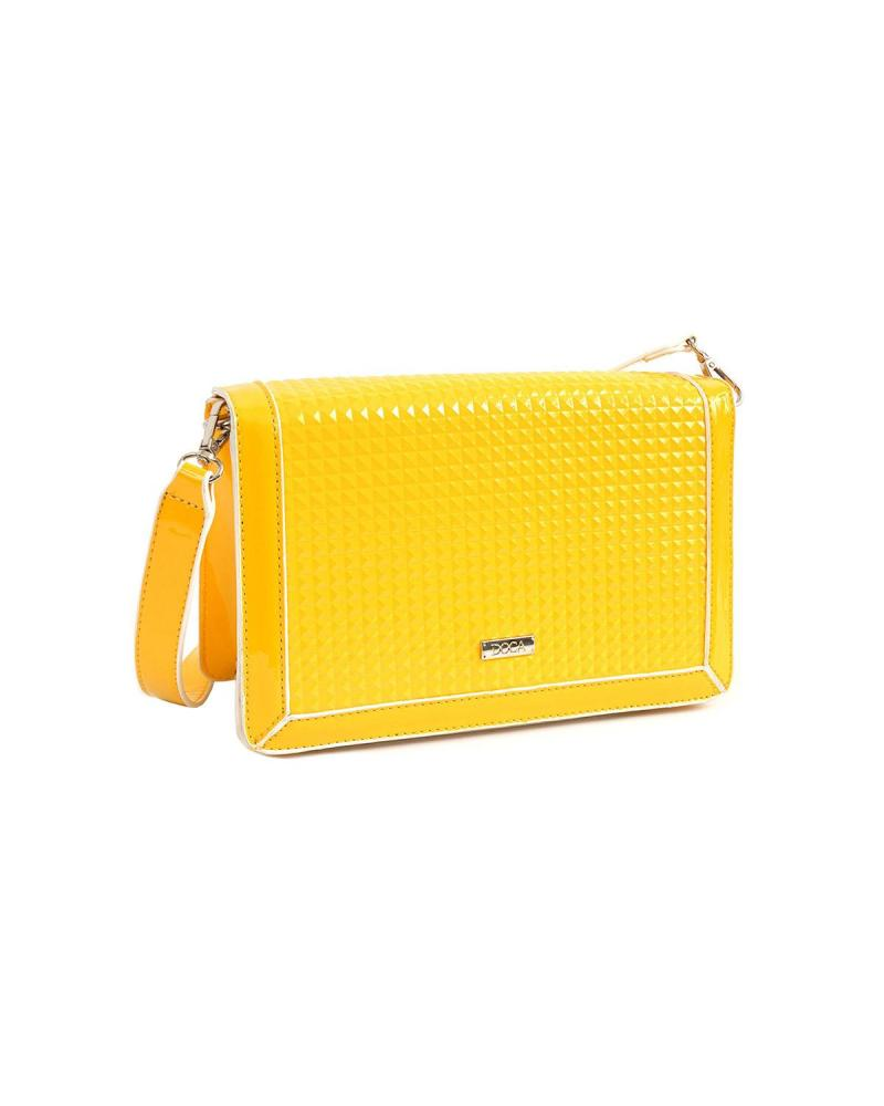 Yellow cross body bag