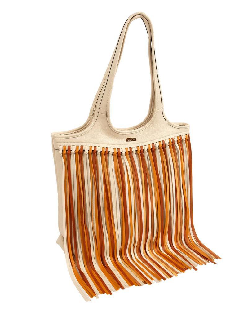 Καθημερινή τσάντα εκρού