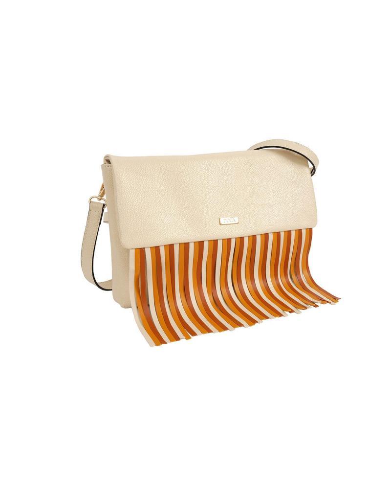 Τσάντα χιαστί εκρού