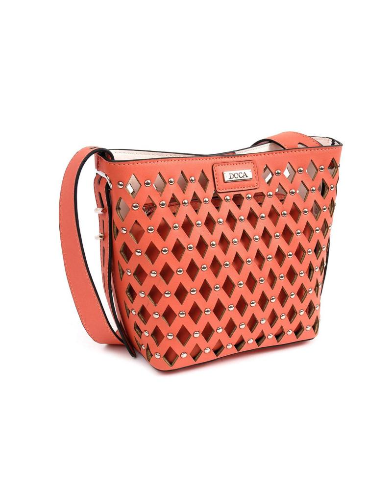 Orange cross body bag