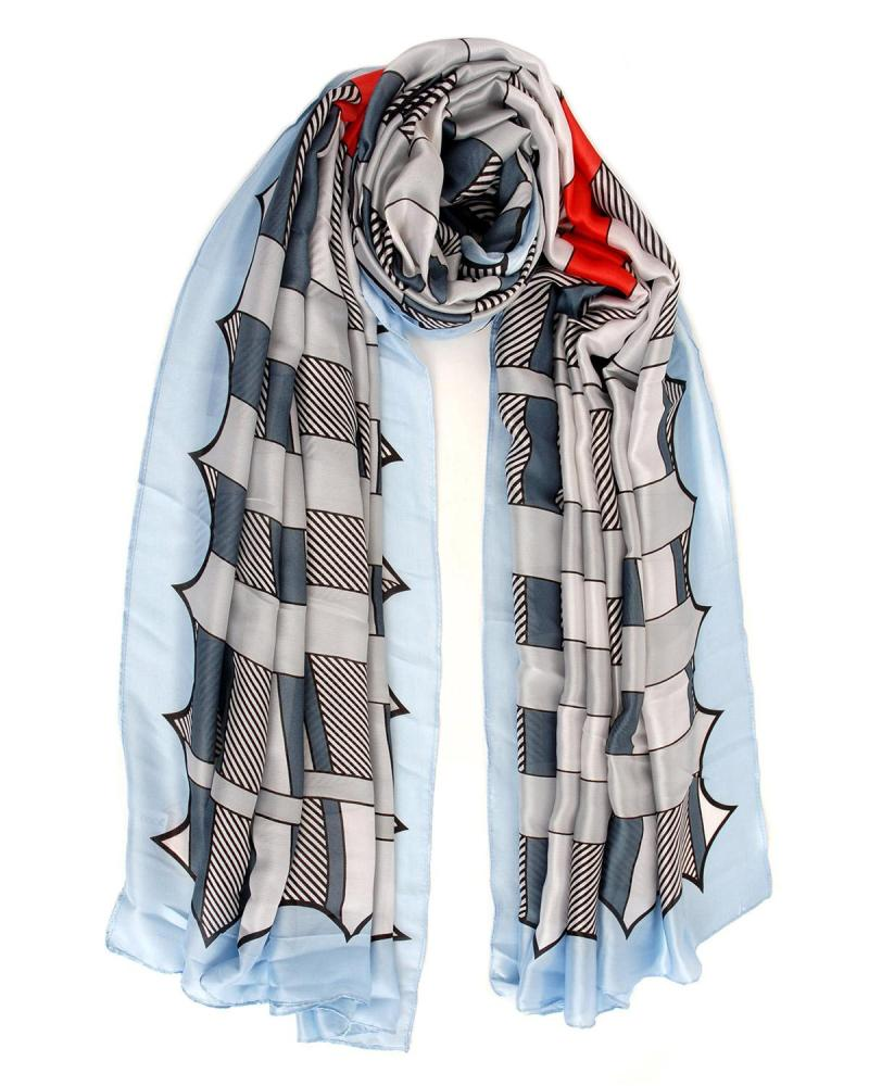 Light blue foulard