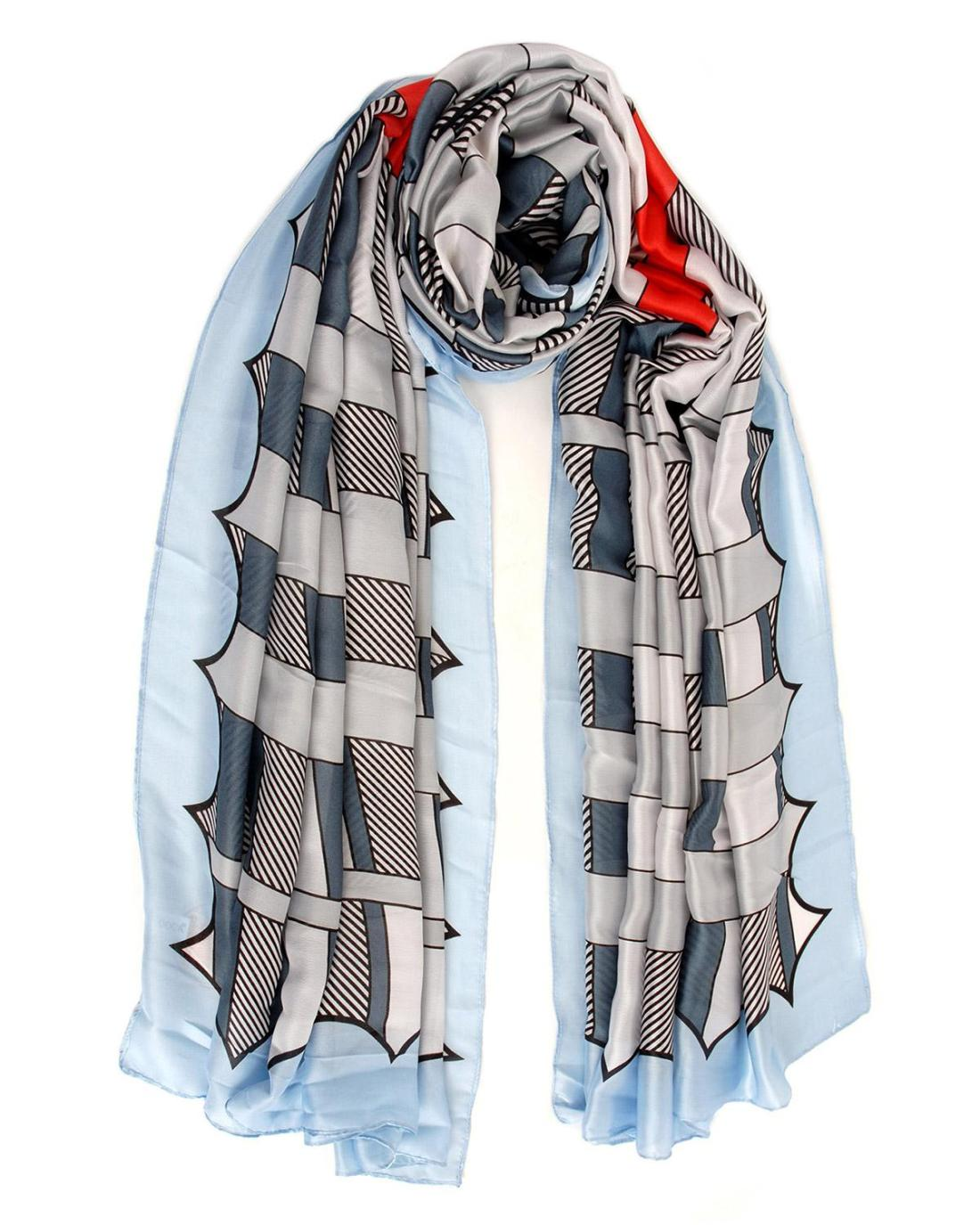 Light blue foulard