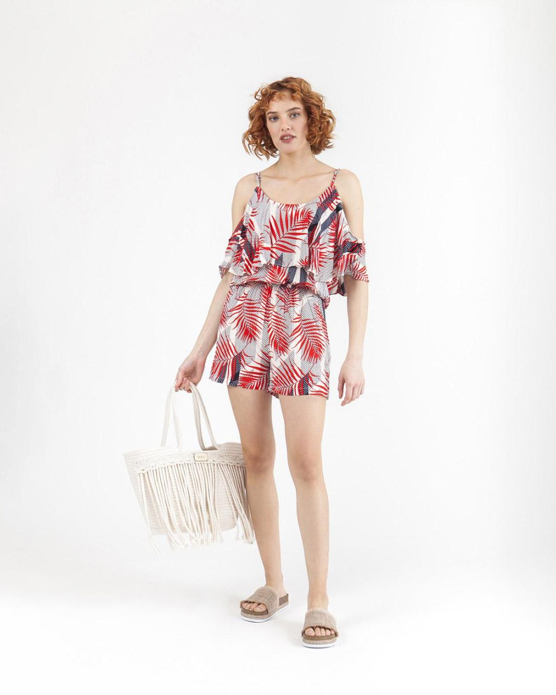 Roter Playsuit