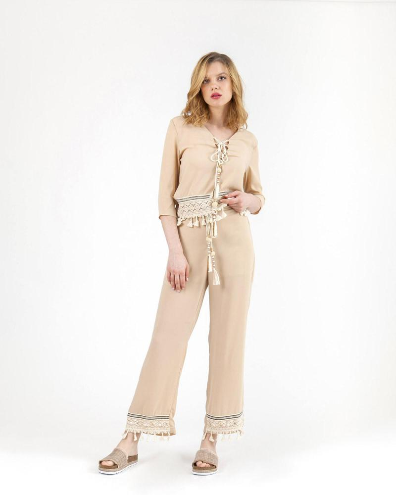 Ecru trousers
