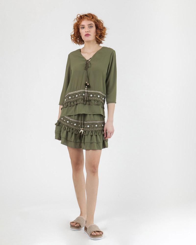 Khaki blouse