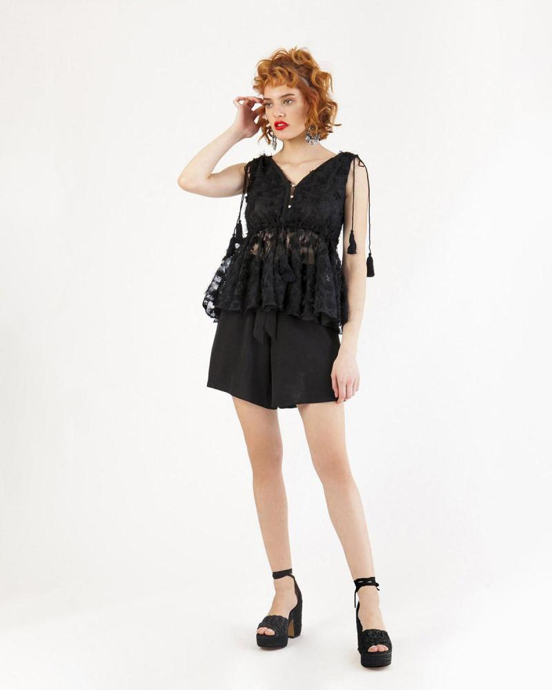 Schwarze Bluse