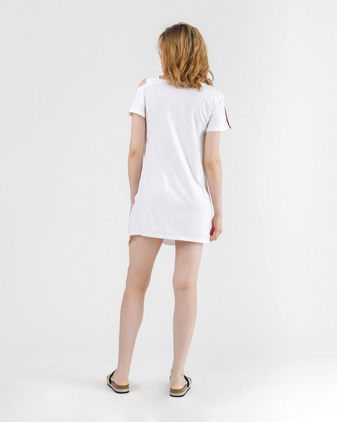 Weiß Hemdkleid