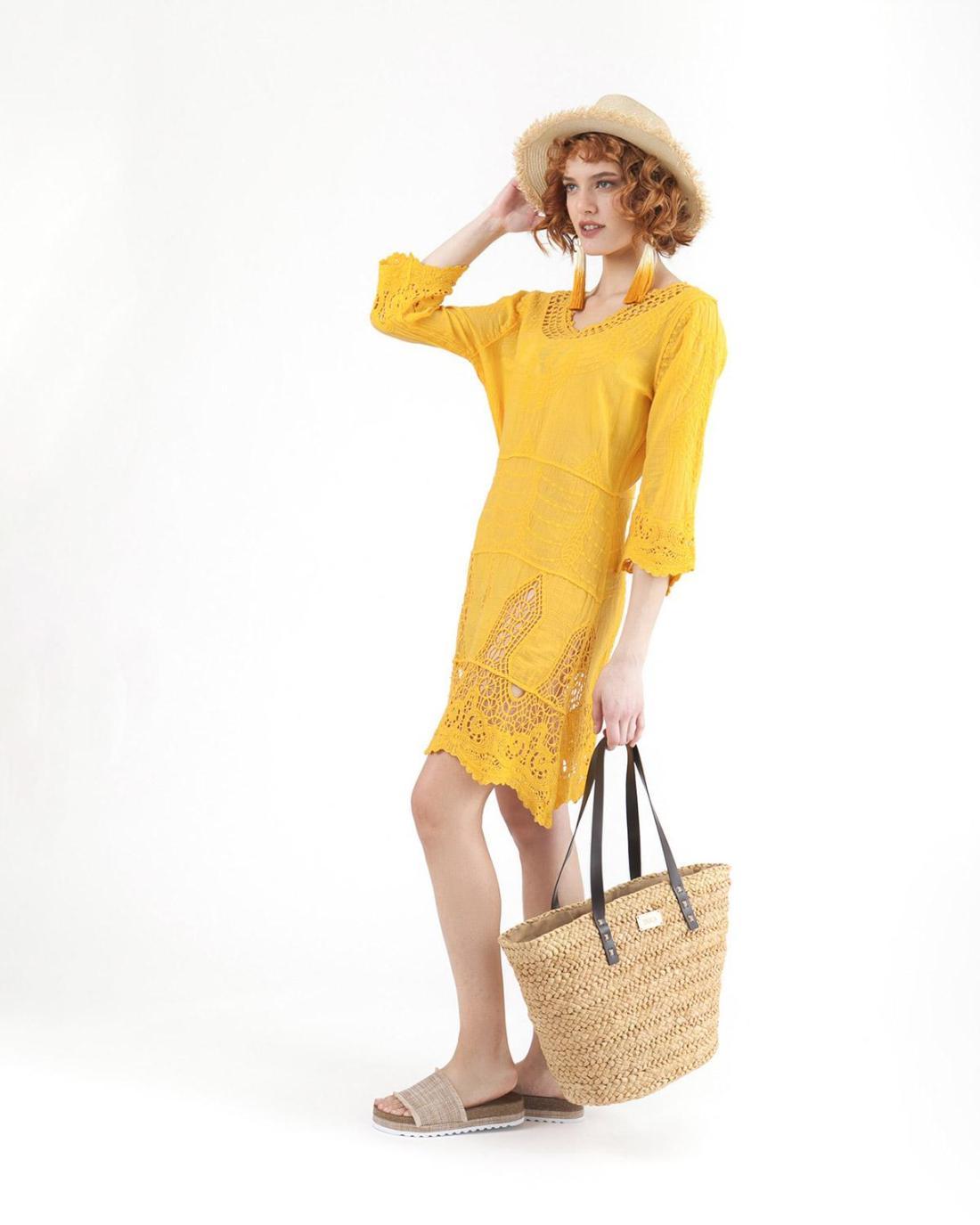 Φόρεμα κίτρινο