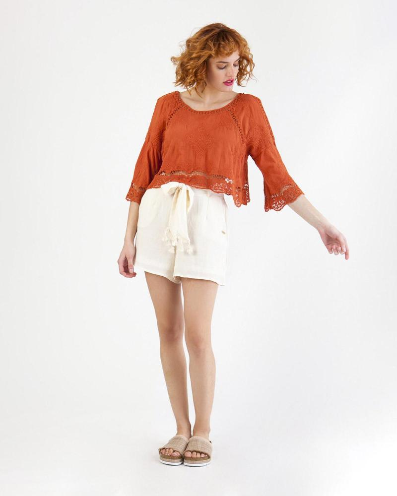 Orange Bluse