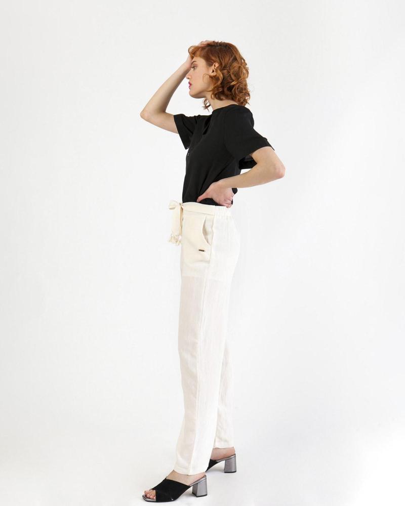 Ecru trousers