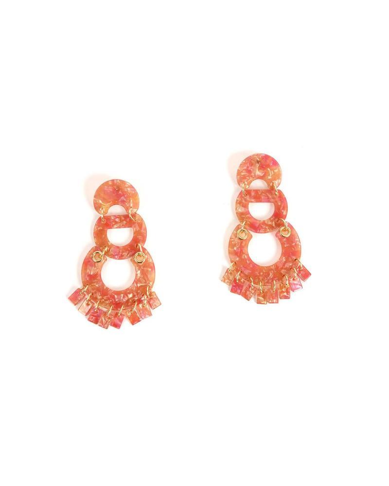 Σκουλαρίκια ροζ