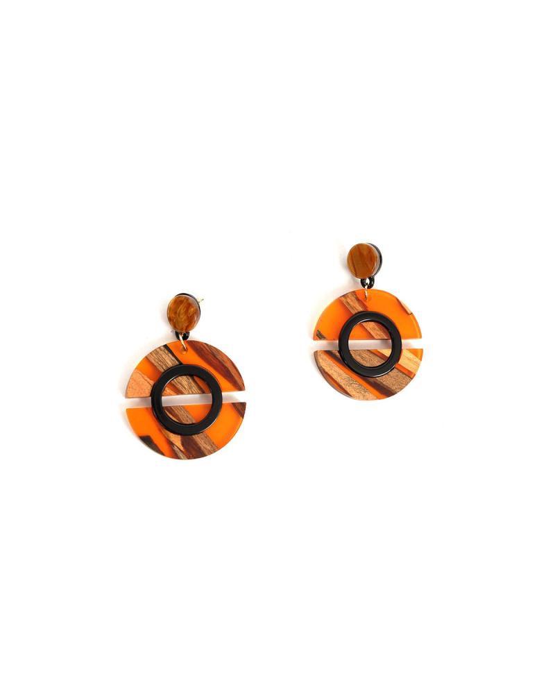 Σκουλαρίκια πορτοκαλί