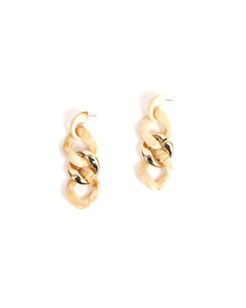 Ohrringe beige