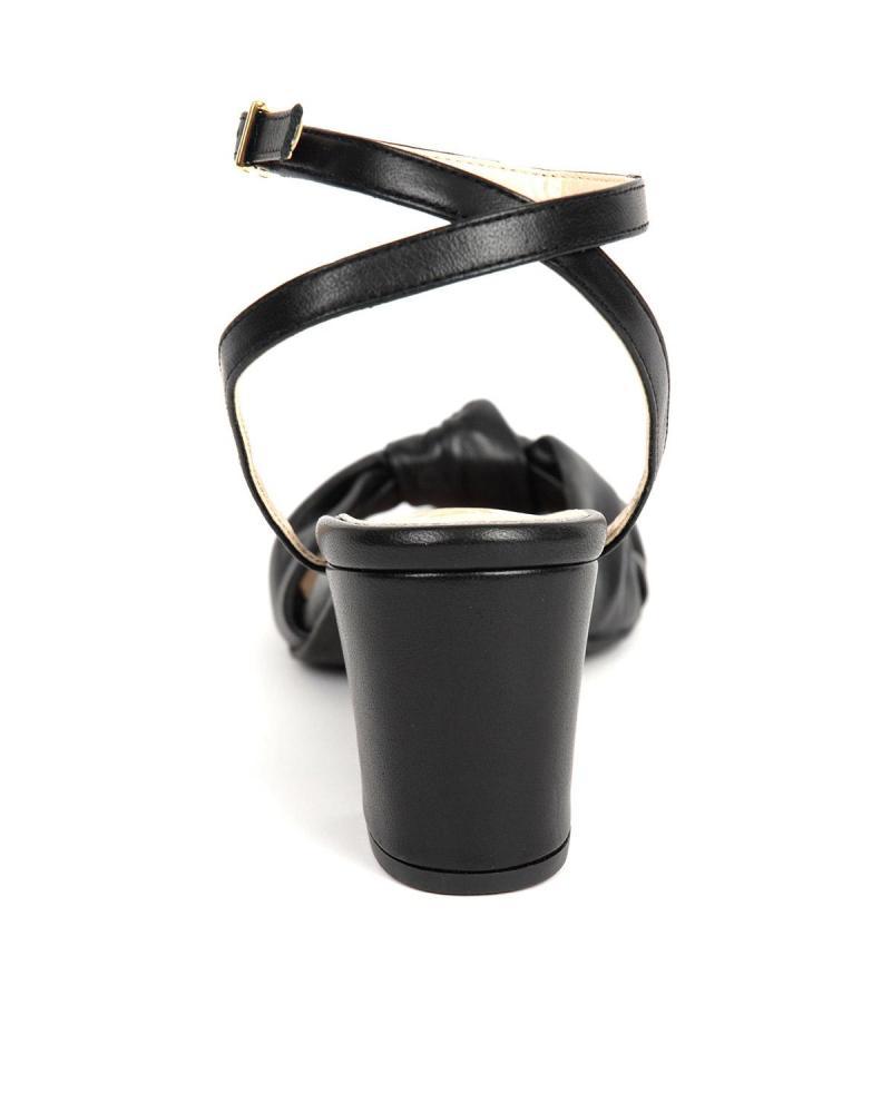 Schwarze Leder Sandalen