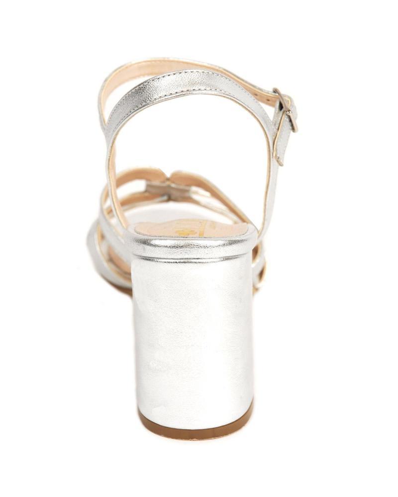 Silber Leder Sandalen