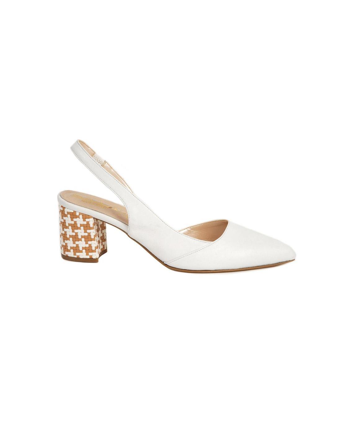 Weiße Leder Sandalen
