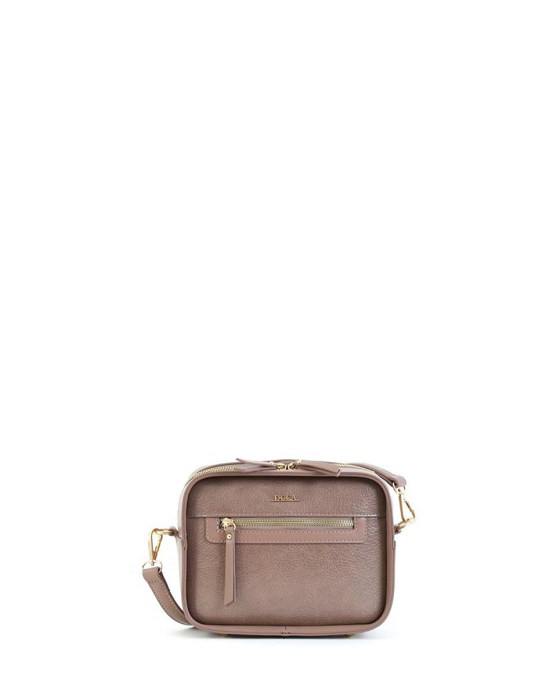 Beige cross body bag