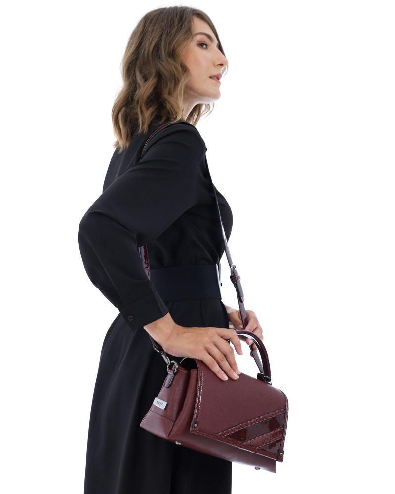 Τσάντα χιαστί μπορντώ