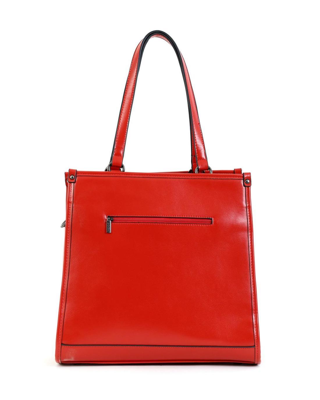 Red handbag