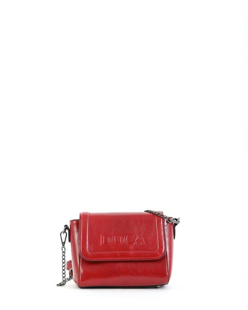 Red cross body bag