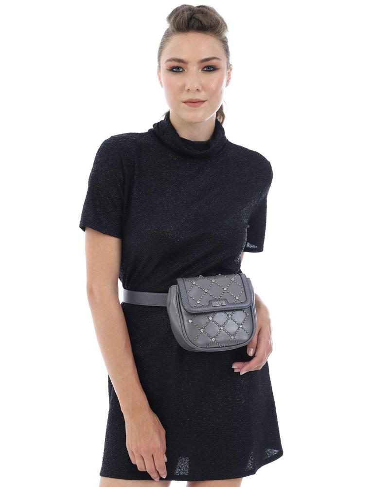 Grey cross body/belt bag