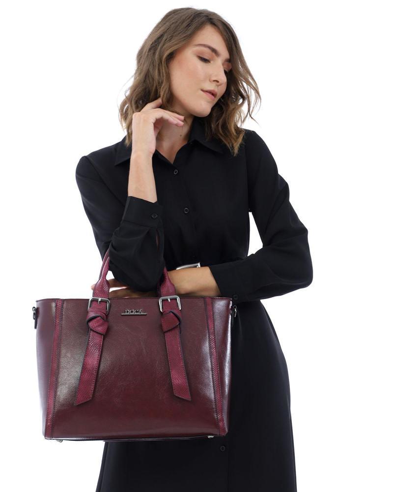 Καθημερινή τσάντα μπορντώ