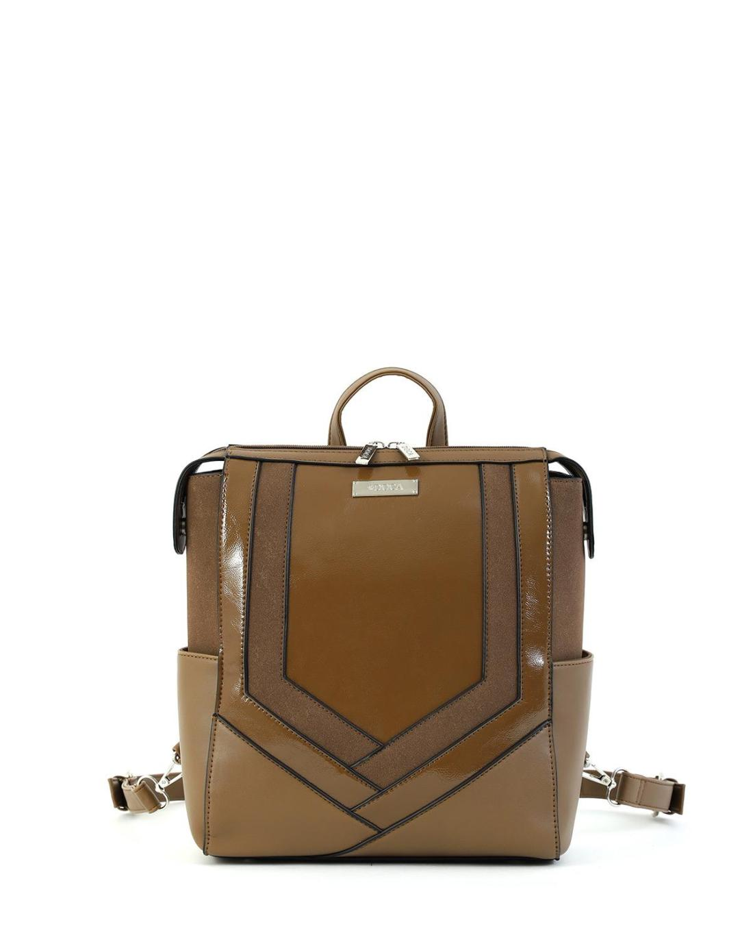 Τσάντα πλάτης μπεζ