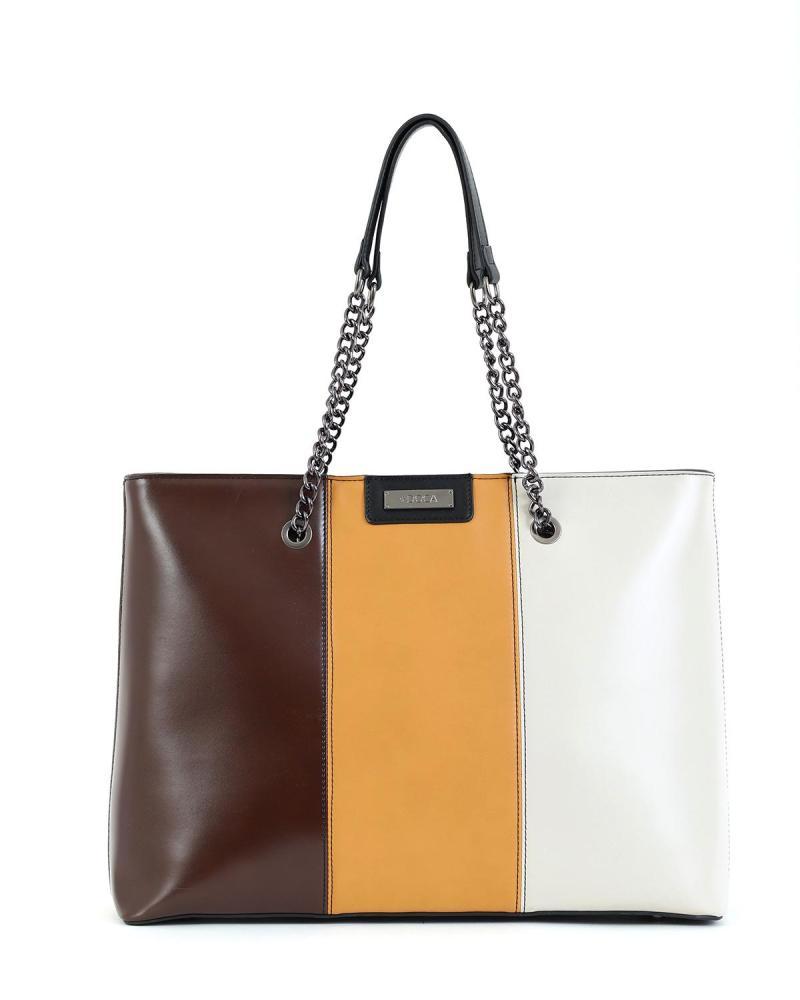 Καθημερινή τσάντα πολύχρωμη
