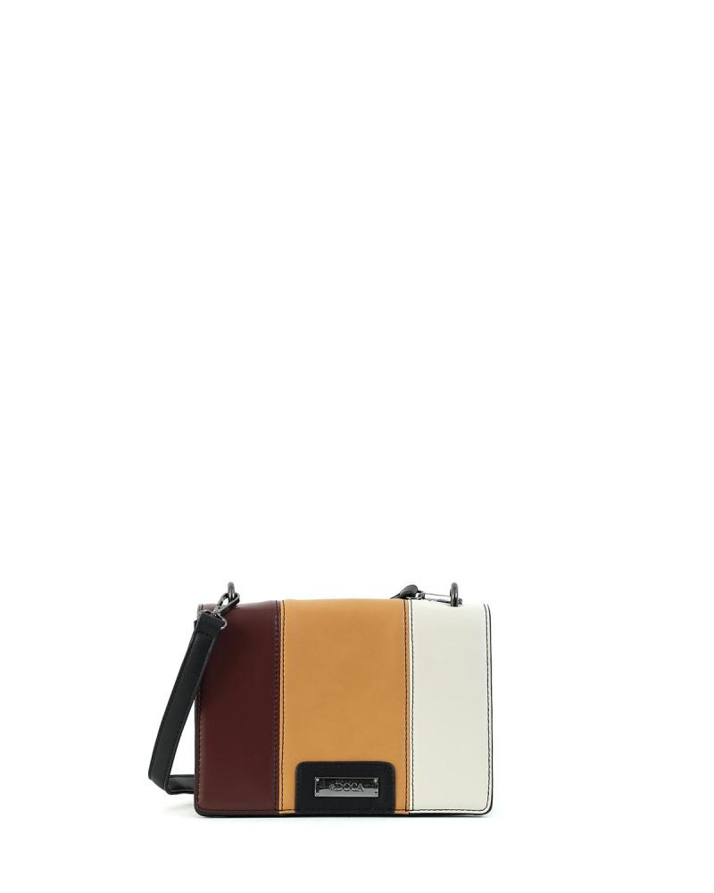 Multi color cross body bag