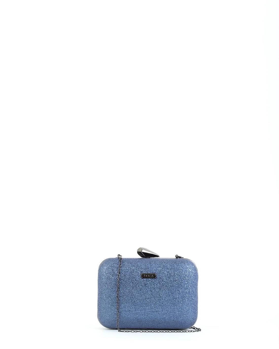 Βραδινό τσαντάκι clutch μπλε