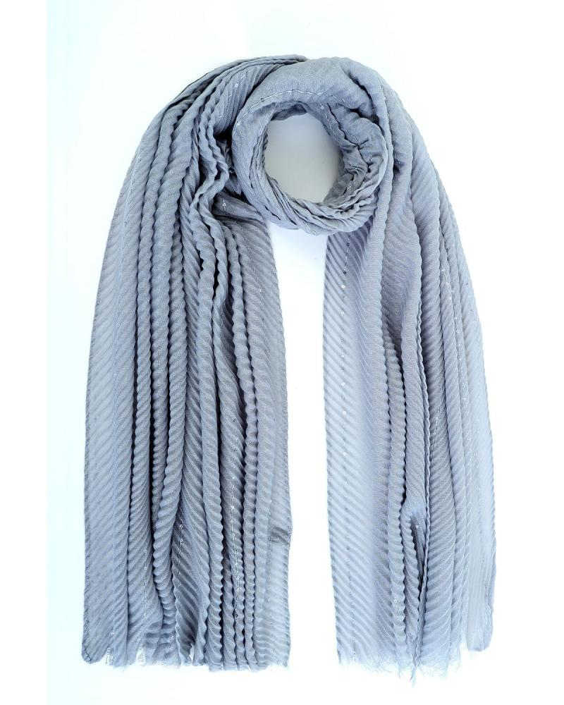 Light blue foulard-stole