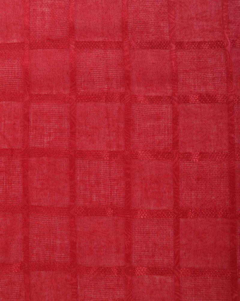 Red foulard-stole